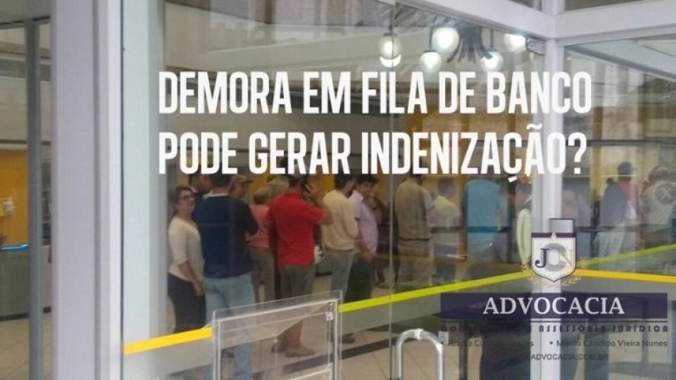 JCN ADVOCACIA – Demora em fila de banco
